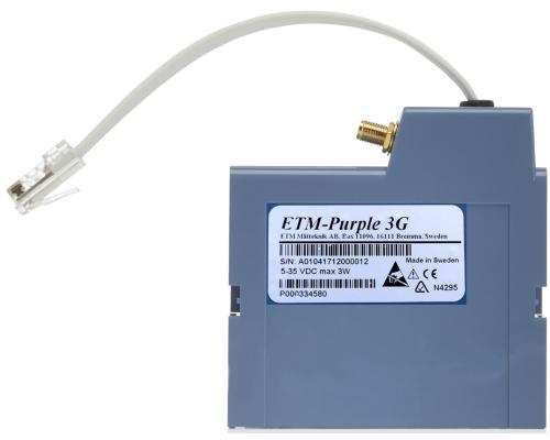 3G радиотерминал ETM-Purple (GSM/GPRS или UMTS) для счетчика Landis+Gyr E55C