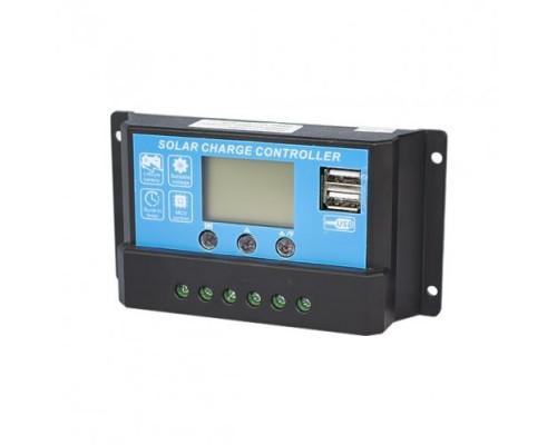 Контроллер  JUTA DY2024 (20А, 12В/24В) с дисплеем + USB разъем